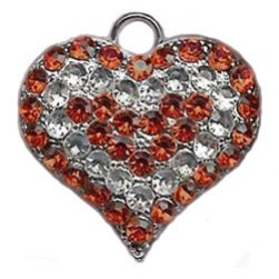 Crystal Heart Pet Charm