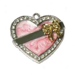 Heart Pet Charm with Bow