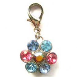 Shimmering Crystal Flower Charm