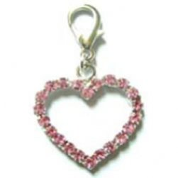 Shimmering Crystal open Heart Charm