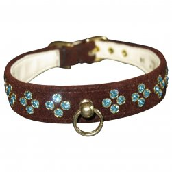 Chocolate Velvet Tiara Collar