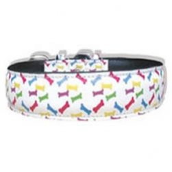 Padded Bone Leather Collar