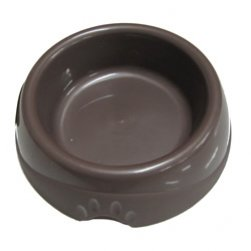 Paw Print Round Plastic Bowl (brown)