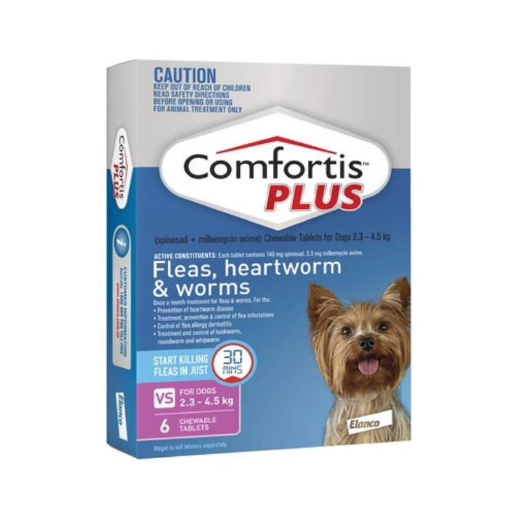 Comfortis Plus for Extra Small Dogs (Pink)