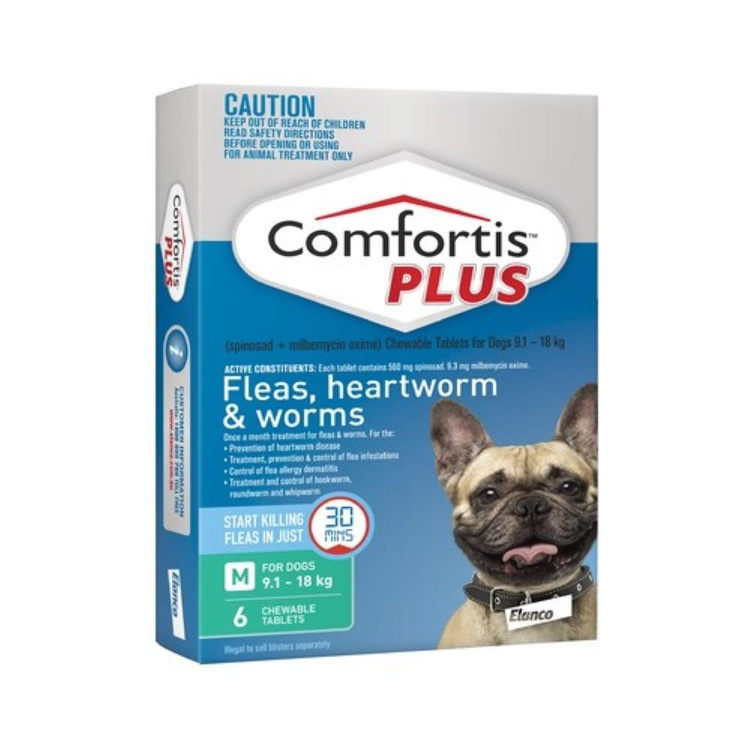 Comfortis Plus for Medium Dogs (Green)
