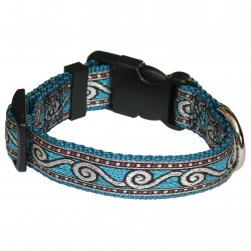Metallic Nylon Collar with Surf Design