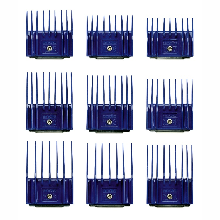 9-Piece Universal Small Plastic Comb Set