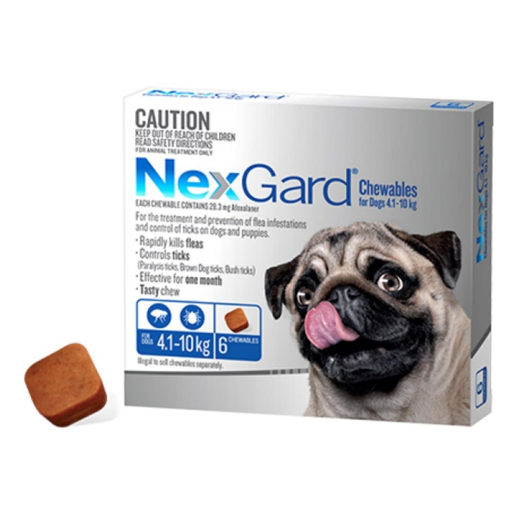 NexGard® Chewables for Small Dogs 4.1-10kg (Blue)