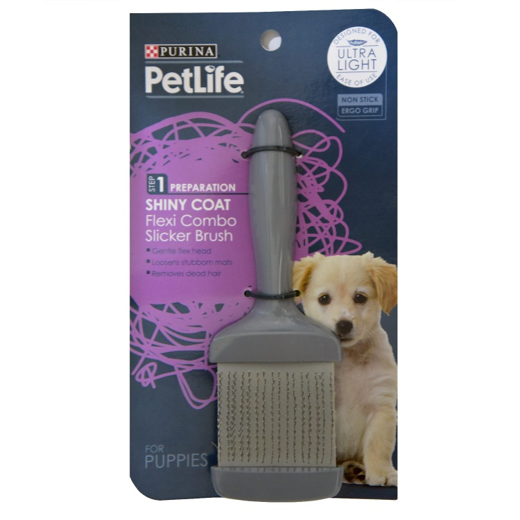 Flexi Combo Slicker Brush for Puppies