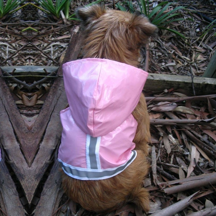Waterproof Raincoat Dog Harness with Hood