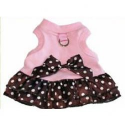 Pink and Choc Polka Dot Dress