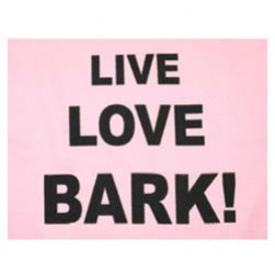 Live, Love, Bark Tank Top