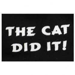 Black The Cat Did It! Tank Top