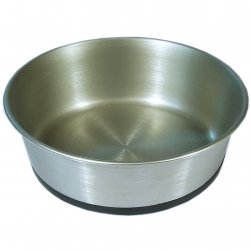 Heavy Rubberised Base Stainless Steel Bowl