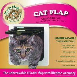 4-Way Lockable Cat Flap