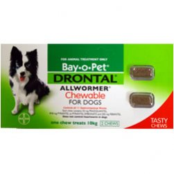 Drontal Chewable Allwormer for Dogs