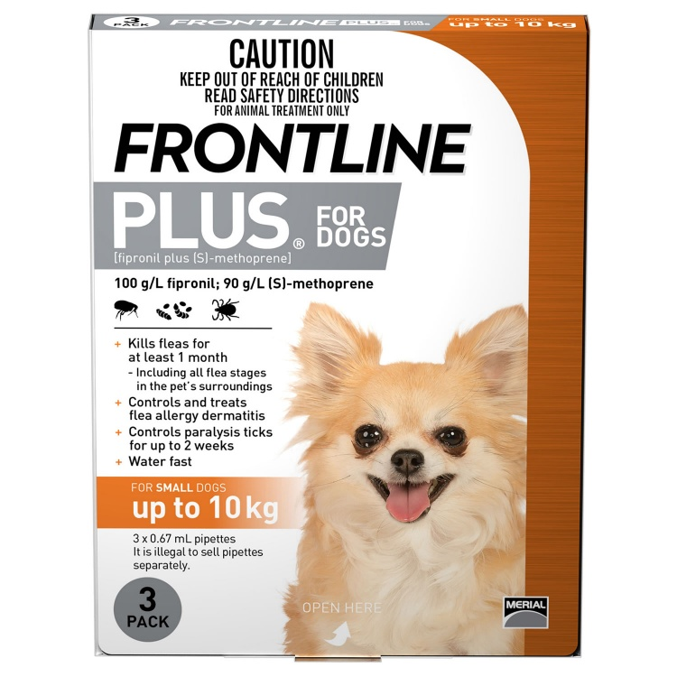 Frontline Plus for Small Dogs (Orange)