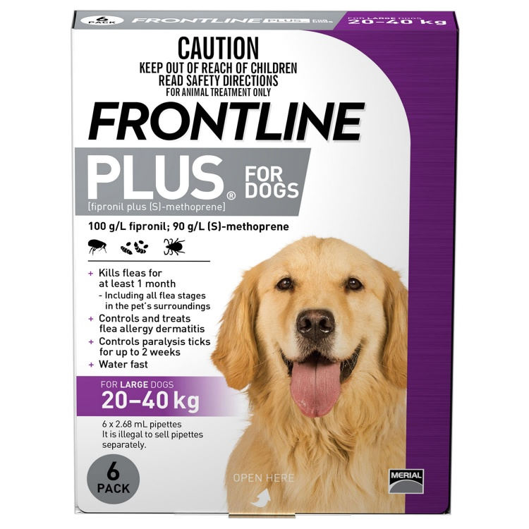 Frontline Plus for Large Dogs (Purple)