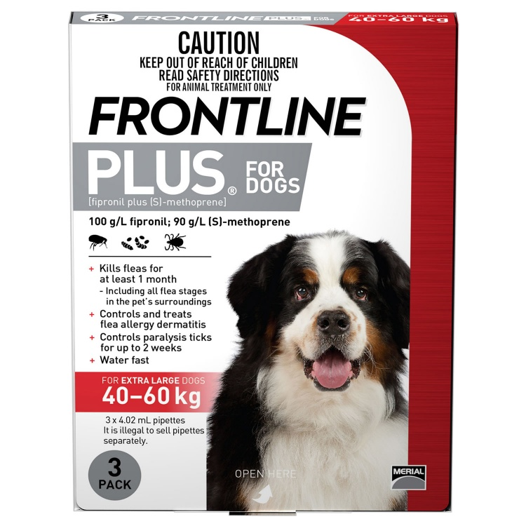 Frontline Plus for Extra Large Dogs (Red)