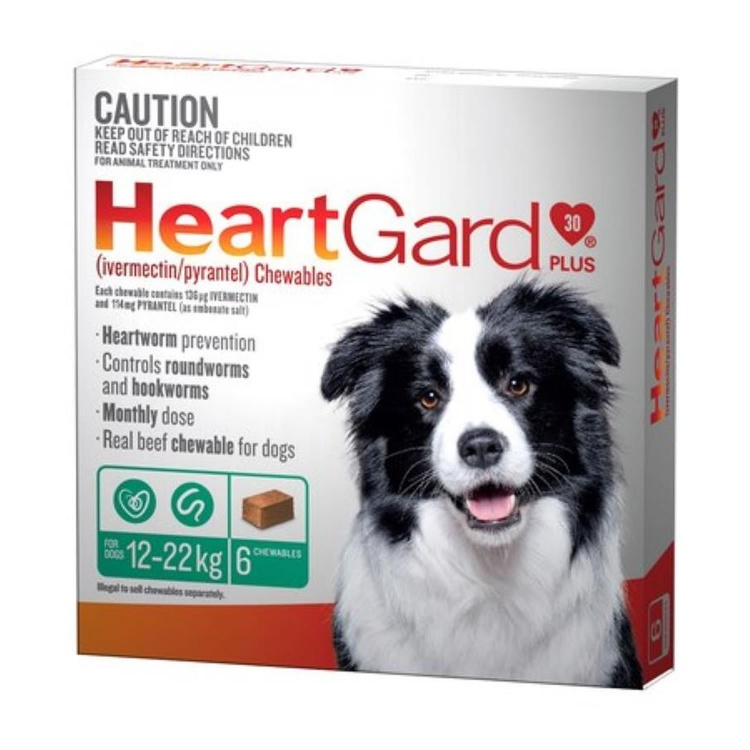 Heartgard Plus for Medium Dogs (Green)
