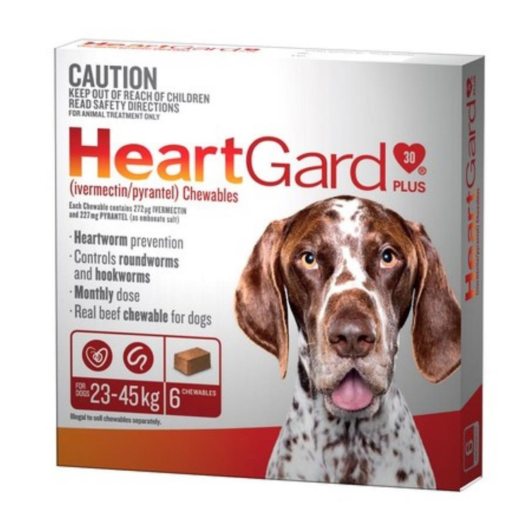 Heartgard Plus for Large Dogs (Brown)