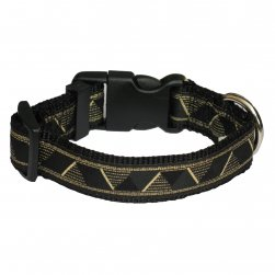 Metallic Nylon Collar with Egyptian Design