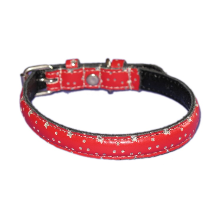 Star Bling Leather Collar